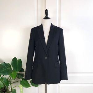 Stella McCartney Black One Button Wool Blazer